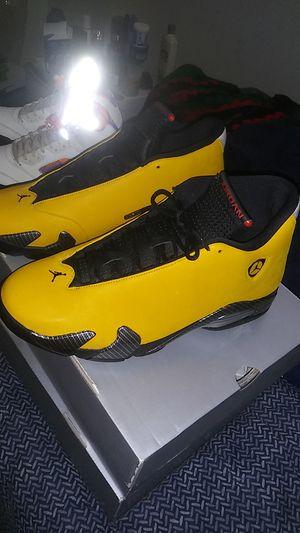 Jordan 14 yellow ferrari for Sale in Milwaukee, WI
