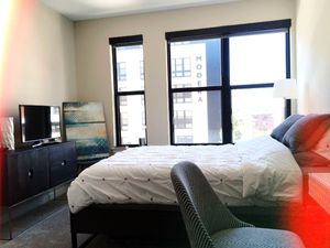 Bed Frame - Dark Wood/Metal Blend for Sale in Fairfax, VA