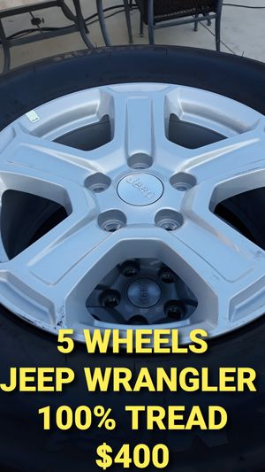 5x NEW JEEP WRANGLER WHEELS RIMS 100% TIRES for Sale in Torrance, CA