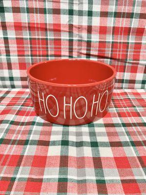 "New Rae Dunn ""HO HO HO"" Red Medium Pet Bowl for Sale in Pembroke Pines, FL"