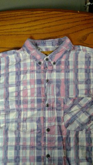 Size large camel short sleeve button down dress shirt for Sale in Murfreesboro, TN