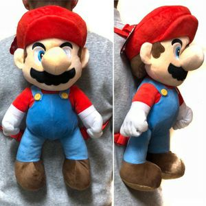 Brand NEW! Super Mario Brother Novelty Plush Backpack Zippered Pouch For Everyday Use/Gaming/Parties/Toys/Birthday Gifts for Sale in Carson, CA