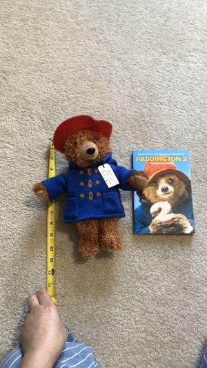 Paddington stuffed animal w/ book for Sale in Springfield, VA