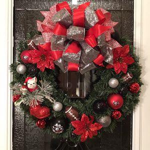 UGA (University Of Georgia) Christmas Wreath for Sale in Dacula, GA