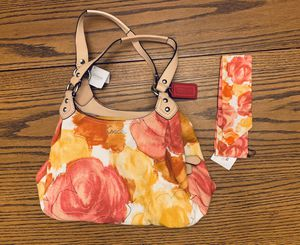 Coach Ashley Multicolor Floral Hobo Shoulder Bag & Silk Pony ~ New for Sale in Thornton, CO