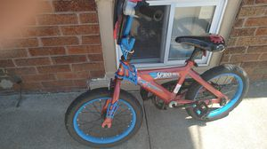 Bikes for boy spider man the wheel is 16 inches to 18 for Sale in Dearborn, MI