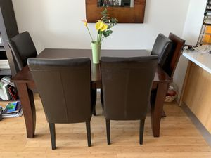 Rectangular Brown Oak Dining Table for Sale in New York, NY