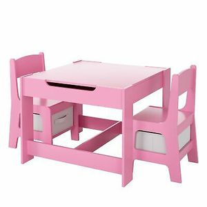 2 in1 Kids Table and Chairs Set Wooden Study Desk for Home Schooling for Sale in Los Angeles, CA