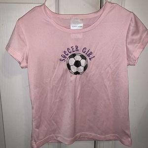 Nordstrom Girls Pink Shirt Soccer Girl 6/6X Polyester for Sale in Centreville, VA