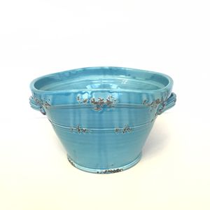 "Bizzirri Portofino ceramic turquoise huge bowl 12""x9""x9"" for Sale in Franklin, TN"