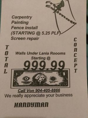 Home improv deal for Sale in Jacksonville, FL
