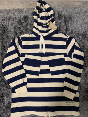Burberry Striped Hoodie Size Medium for Sale in Seattle, WA