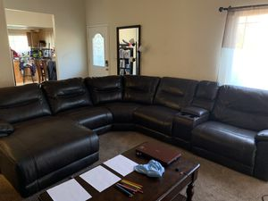 Sectional Leather Couch for Sale in Hercules, CA