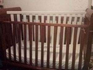 2 cribs boy brown, girl white 70 each only 1 matress extra 10 for Sale in Selma, CA