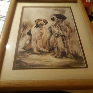 Ruth Hyatt Maystead Wirehaired Pointer Framed Picture for Sale in Los Angeles, CA