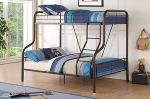 SANDY BLACK FINISH TWIN OVER FULL SIZE BUNK BED / CAMA LITERA MUEBLES for Sale in Hemet, CA