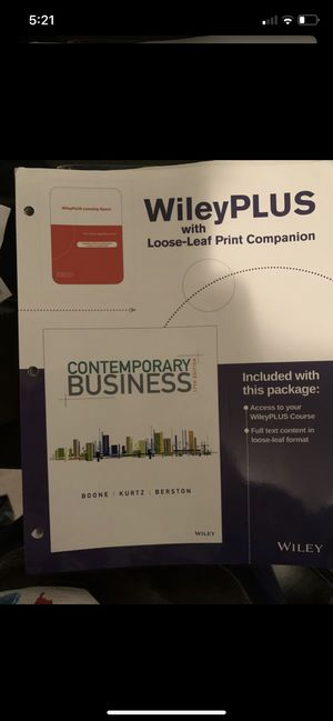 Contemporary business 17th edition for Sale in Los Angeles, CA