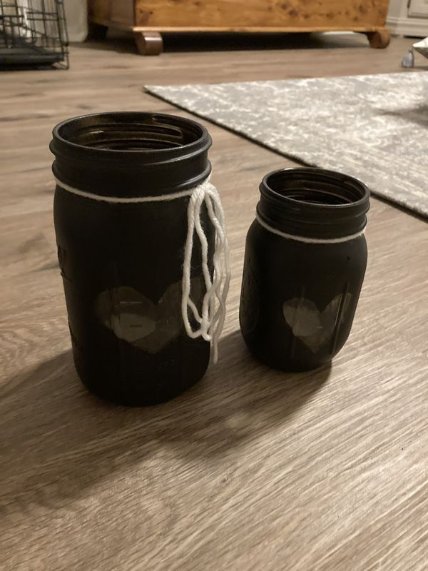 Mason jar tea light holders