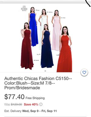 Authentic Chicas prom/bridesmade dress only $50 for Sale in Pico Rivera, CA