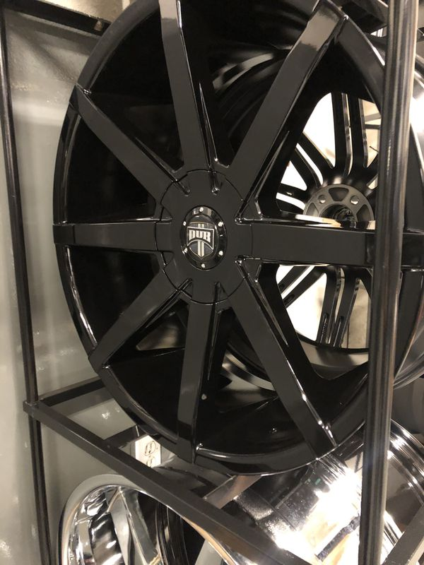 BRAND NEW set (4) Gloss Black 22 inch Dub Push rims for only$1200!!!