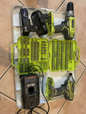 Used Ryobi 18v drill with 2 battery and 1 charger for Sale in Miami, FL