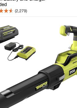 RYOBI 125 MPH 550 CFM 40-Volt Lithium-Ion Brushless Cordless Jet Fan Leaf Blower - 4.0 Ah Battery and Charger Included for Sale in Sloan,  NV