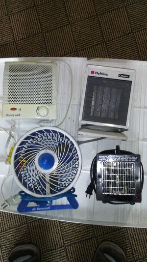 CAMPING STUFF, lots of it! Heaters, Fan, Cooler, Lights, Power Cords, Adapters, etc! for Sale in Brier, WA