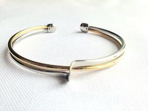 Lia Sophoa Two Tone Cuff Bracelet for Sale in Ontarioville, IL