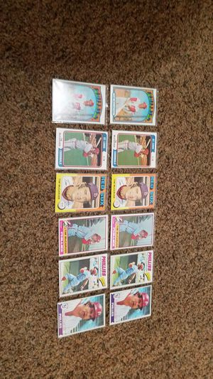 Tim McCarver 12 vintage baseball cards 1972-79 Cardinals Phillies star for Sale in Albuquerque, NM