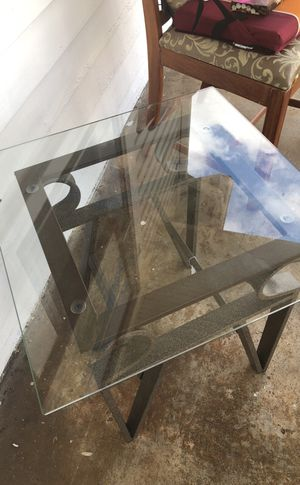 Pair of glass top end tables for Sale in Madison Heights, VA