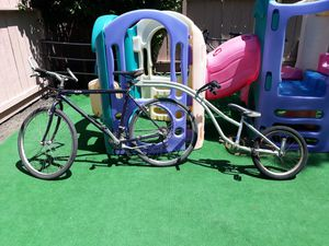 Bike with kid bike attachment tandem / trailer for Sale in Redwood City, CA