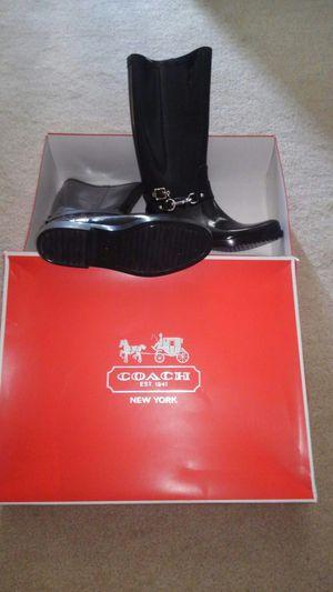 Coach Rain Boots - size 10B - NEW for Sale in Seminole, FL