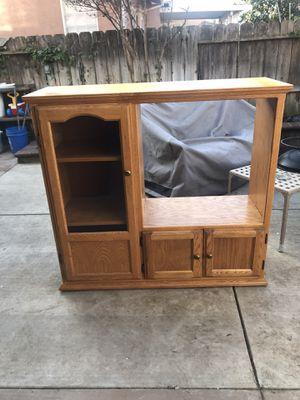 Oak entertainment cabinet for Sale in Modesto, CA