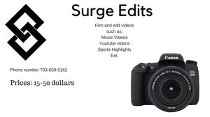 Video Edits and Filming for Sale in Ashburn, VA