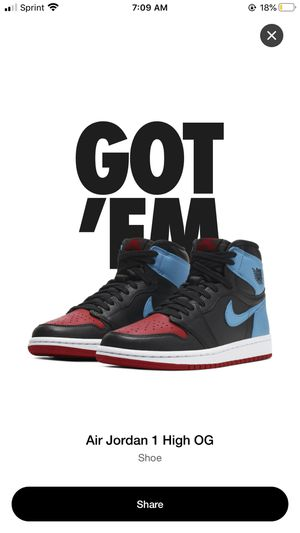 Retro Jordan 1 Nc to Chicago for Sale in Pomona, CA