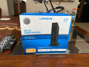 Linksys cable modem 24 x 8 for Sale in Crystal River, FL