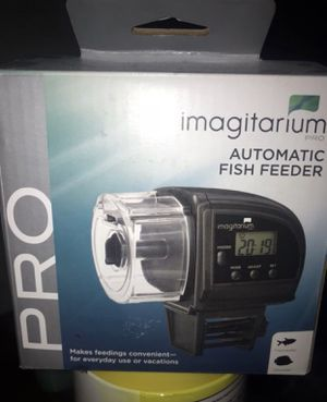 Fish feeder automatic with fish fish included for Sale in Poway, CA