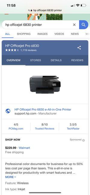 Printer hp officerjet pro 6830 for Sale in Ashburn, VA