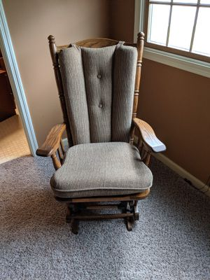 Yoder's solid oak wood rocking chair / glider for Sale in Heyworth, IL