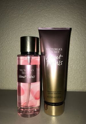 Victoria secret velvet petals lotion and fragrance mist for Sale in Hesperia, CA