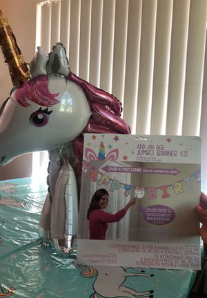 🦄 HB banner and small balloon for Sale in Turlock, CA