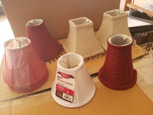 7 small lamp shades for Sale in Peoria, AZ