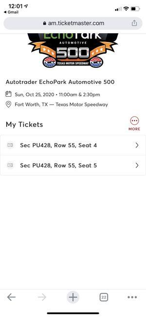 Texas motor speedway tickets sun oct 25 2:30pm for Sale in Haltom City, TX