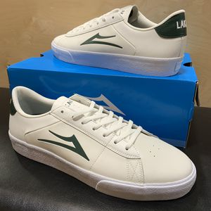 Lakai Newport White/Green Leather Brand New Sizes 5, 6, 8, or 11.5 skate skateboarding for Sale in Brea, CA