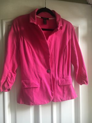 Ladies Hot Pink Knit Blazer Size Med for Sale in Puyallup, WA