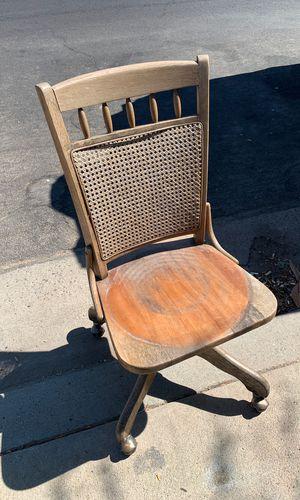 Antique oak desk chair for Sale in Clovis, CA