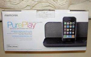 Memorex .. MI3602PBLK .. PurePlay .. Portable Speaker for iPod and iPhone. New. Bristol Boro, Pa. 19007 Powers and charges your iPhone & iPod device for Sale for sale  Bristol, PA