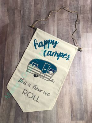 Happy Camper Banner for Sale in Port St. Lucie, FL