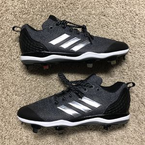 New Men's Adidas Poweralley 5 Metal Baseball Cleats Black/Gray AC8386 Size 11.5 for Sale in Clermont, FL