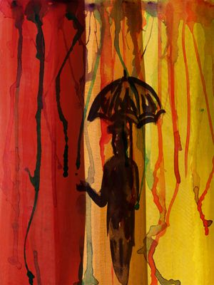Beautiful Art Print: Umbrella Man for Sale in Silver Spring, MD